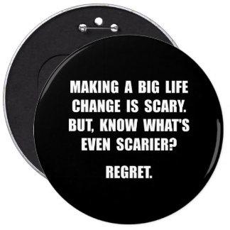 Regret 6 Cm Round Badge