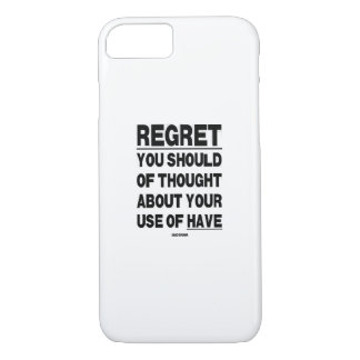 REGRET Phone case. iPhone 8/7 Case