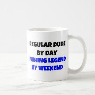 Regular Dude by Day Fishing Legend By Weekend Coffee Mug