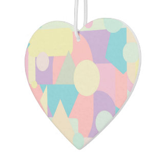 Regular Pastel Shapes in Abstract Collage Car Air Freshener
