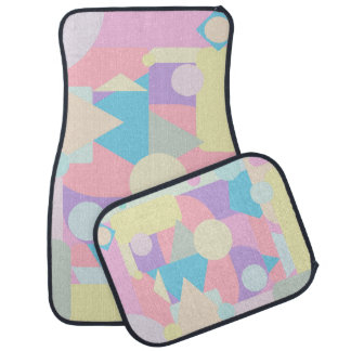 Regular Pastel Shapes in Abstract Collage Car Mat