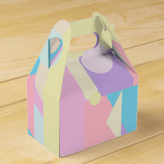 Regular Pastel Shapes in Abstract Collage Favour Box