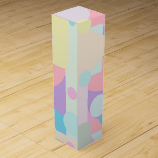 Regular Pastel Shapes in Abstract Collage Wine Gift Box