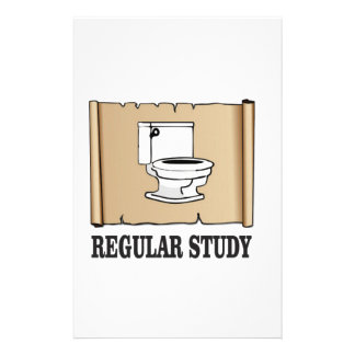 regular study fun customized stationery