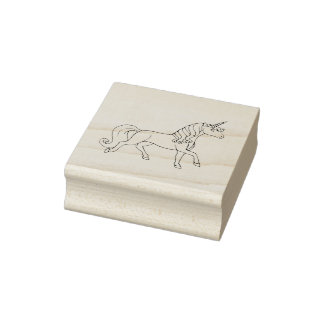 Regular unicorn rubber stamp