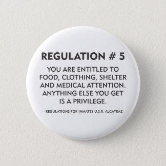 Regulation # 5 6 cm round badge