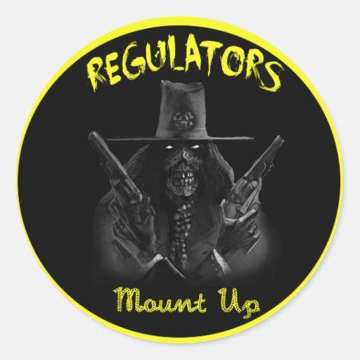 REGULATORS ROUND STICKERS