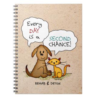 Rehab & Detox Cartoon: Recovery Sobriety DrugFree Notebook