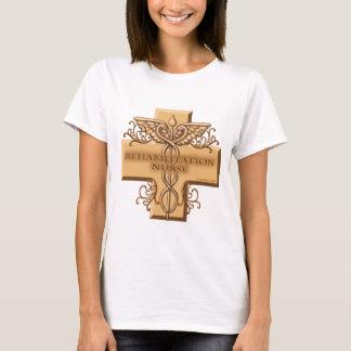 Rehab Nurse Caduceus womens basic t-shirt