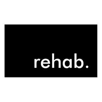 rehab. pack of standard business cards