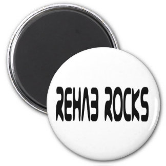 Rehab Rocks 6 Cm Round Magnet