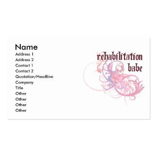 Rehabilitation Babe Business Card Template