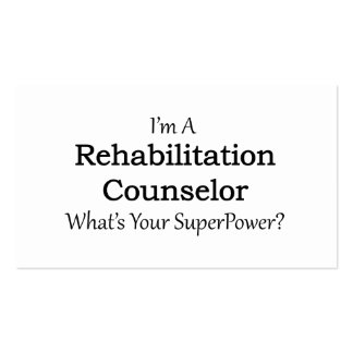 Rehabilitation Counselor Pack Of Standard Business Cards