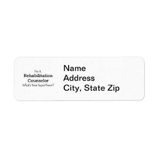 Rehabilitation Counselor Return Address Label