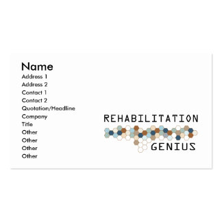 Rehabilitation Genius Business Card Templates