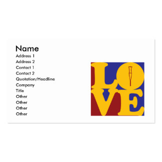 Rehabilitation Love Business Card Template