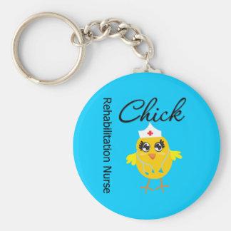Rehabilitation Nurse Chick v1 Basic Round Button Key Ring