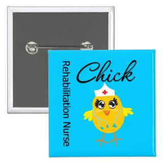 Rehabilitation Nurse Chick v1 Pinback Button