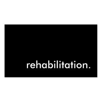 rehabilitation. pack of standard business cards