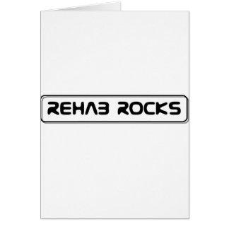 Rehabilitation - Rehab Rocks Greeting Card