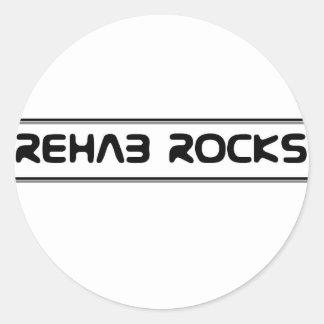 Rehabilitation - Rehab Rocks Round Sticker