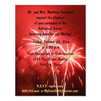 Rehearsal Dinner Fireworks Card