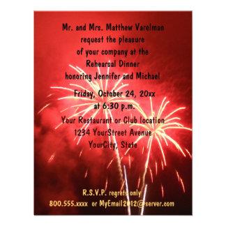 Rehearsal Dinner Fireworks Personalized Invitation