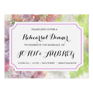 Rehearsal Dinner for Vineyard or Winery Wedding Postcard