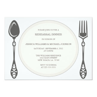 Rehearsal Dinner | Herringbone Card