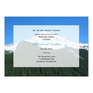 Rehearsal Dinner Invitation -- Mountain Landscape