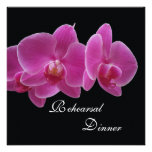 Rehearsal Dinner Invitation -- Orchids