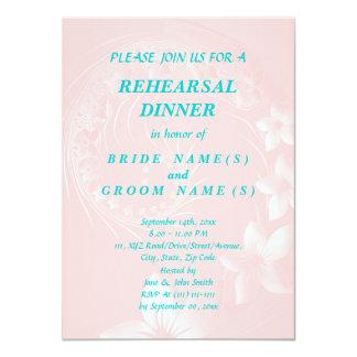 Rehearsal Dinner - Light Pink Abstract Flowers Invites