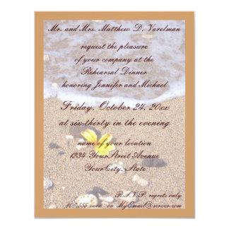 Rehearsal Dinner Ocean Seashells 11 Cm X 14 Cm Invitation Card
