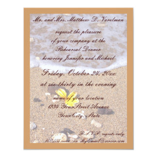 Rehearsal Dinner Ocean Seashells Card