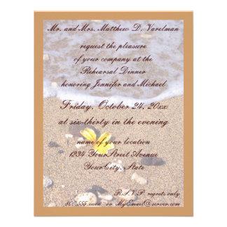Rehearsal Dinner Ocean Seashells Personalized Invite