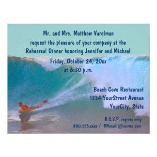 Rehearsal Dinner Surf and Sea Custom Invites