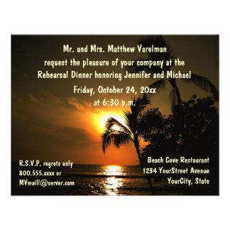 Rehearsal Dinner Tropical Sunset Announcements