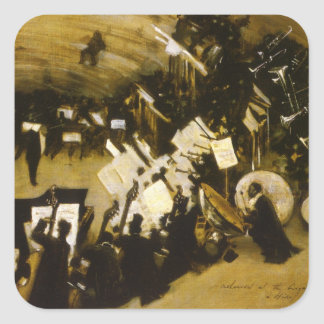 Rehearsal of the Pasdeloup Orchestra by Sargent Square Sticker
