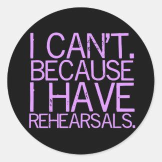 Rehearsals (lavender) Sticker
