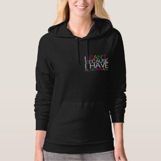 Rehearsals Multi-Color Design Dark Hoodie for Wome