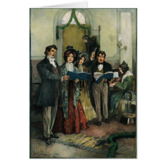"""Rehearsing the Christmas Hymns"" Greeting Card"
