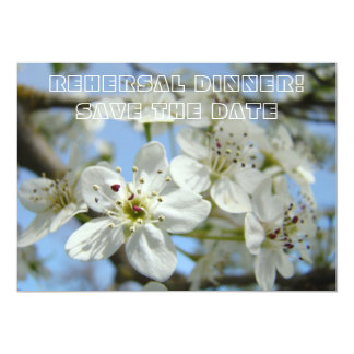 Rehersal Dinner Card Save the Date Annoucement