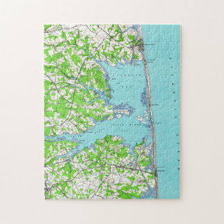 Rehoboth Beach & Bethany Beach Delaware Map (1938) Jigsaw Puzzle