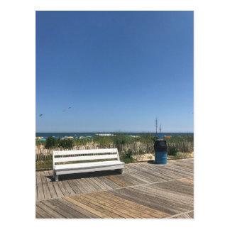 Rehoboth Beach DE Boardwalk Bench Photo Travel Postcard