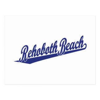 Rehoboth Beach in blue Postcard