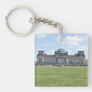 Reichstag building - Berlin, Germany Double-Sided Square Acrylic Key Ring