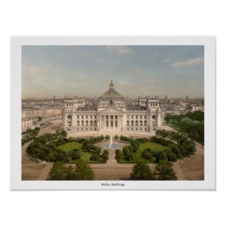Reichstag Building, Berlin Germany Poster