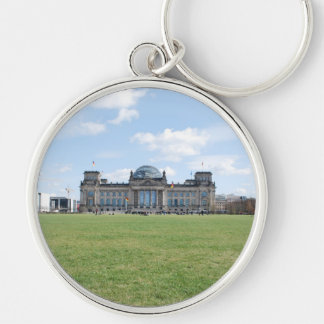 Reichstag building - Berlin, Germany Silver-Colored Round Key Ring