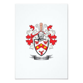 Reid Family Crest Coat of Arms Card