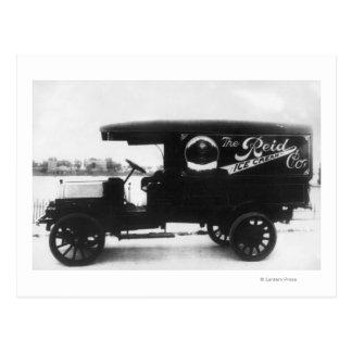 Reid Ice Cream Company Truck Postcard